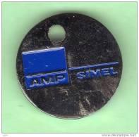 1 Jeton De Caddie *** AMP SIMEL *** (0238) - Trolley Token/Shopping Trolley Chip