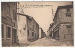 42 - SAINT-JUST-SUR-LOIRE - Rue Joannès-Beaulieu - Hôtel De La Loire Et Hôtel Du Commerce - Saint Just Saint Rambert