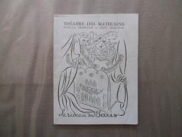 THEATRE DES MATHURINS LE RIDEAU DE PARIS  L'EMPEREUR DE CHINE COMEDIE DE JEAN-PIERRE AUMONT - Programmes