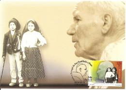 PORTOGALLO - 2000 Visita Pope Papa GIOVANNI PAOLO II In Portogallo Annullo Fdc Su Cartolina Poste Portoghesi - Papas