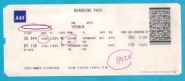 Flight Ticket SAS  From Chicago  To Kopenhagen And Riga 2016 - Transportation Tickets