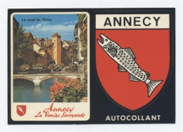 74. ANNECY --BLASON AUTO COLLANT -RECTO/VERSO--C52 - Annecy