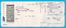 Flight Ticket LOT  Polish 2015 - Transportation Tickets