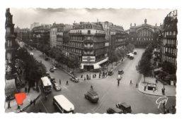 08607-LE-75-PARIS ET SES MERVEILLES-La Gare Du Nord Carrefour Denain-Magenta------animée-voitures-autobus - Stations, Underground
