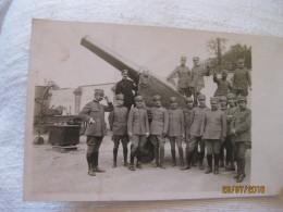 Italie: Carte Postale, Pièce D'artillerie Et Artilleurs 1ère Guerre Mondiale - 1914-18