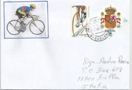 Le Cyclisme En Espagne, Lettre De Barcelone Adressée En Italie - Wielrennen