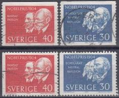 Suecia 1964 Nº 518/19 + 518a/19a Usado - Sweden