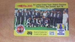 Sri Lanka-(14srlb)-sri Lanka Cricket Team-(rs.200)-used Card+1card Prepiad Free - Sri Lanka (Ceylon)