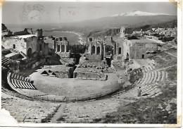 CPSM - ITALIA -Sicilia - TAORMINA : Teatro Greco-romano - 1966 . - Autres Villes