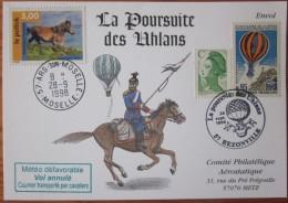 Souvenir - Poursuite Uhlans - Rezonville - Ballons - Aérostatique - Chevaux - 1998 - YT 3184 - PA45 - France