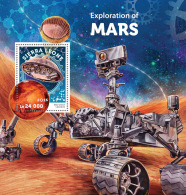 SIERRA LEONE 2016 ** Explorations Of Mars Erforschung Des Mars S/S - OFFICIAL ISSUE - A1628 - Africa