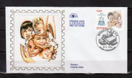 """Enveloppe 1er Jour En Soie De 2004 """" 10 ANS DE L'ECOLE INTERNATIONALE DE MONACO """" N° YT 2436. Parfait état. FDC - FDC"""