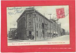 HULL 1913 GATINEAU MAIN AND LAKE STREETS RUES PRINCIPALE ET DU LAC IMPERIAL HOTEL CARTE EN BON ETAT - Quebec