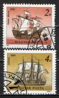 UNGHERIA - 1988 - VELIERI CELEBRI: SANTA MARIA E JYLLAND - USATI - Oblitérés