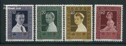 Liechtenstein 1955 Red Cross 4v, (Mint NH), History - Kings & Queens - Health - Red Cross - Liechtenstein