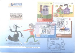 CONCURSO NACIONAL DE DIBUJO INFANTIL PREVENCION DE ACCIDENTES POR INHALACION DE MONOXIDO DE CARBONO SERIE COMPLETA - Pollution