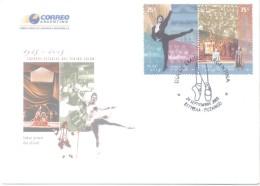 CUERPOS ESTABLES DEL TEATRO COLON 1925-2005 OPERA DANZA BALLET CANTO FDC ARGENTINA  AÑO 2005 MATASELLO ITUZAINGO RARE - Pollution