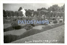 53859 ARGENTINA 9 DE JULIO BS AS SQUARE PLAZA ESPAÑA YEAR 1959 PHOTO NO POSTAL TYPE POSTCARD - Ohne Zuordnung