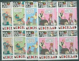 Netherlands 1984 Child Welfare 4v Blocks Of 4 [+], Mint NH, Art - Comics (except Disney) - Children's Books Illustration - Neufs