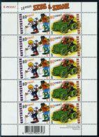 Netherlands 2000 Sjors & Sjimmie Minisheet, Mint NH, Art - Comics (except Disney) - 1980-... (Beatrix)