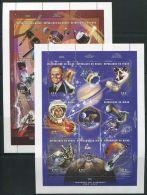Niger 1997 Space History 16v (2 M/s), (Mint NH), Transport - Space Exploration - Níger (1960-...)