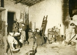 France Moulis Grand Poujeaux Vendangeurs Vin Chasse Spleen Ancienne Photo 1930