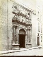 France Toulouse Porte De L'Hotel De Felzins Rue De La Dalbade Ancienne Photo 1890 - Photographs