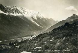 France Le Mont Blanc Pris De La Flegere Alpes Montagne Ancienne Photo Neurdein 1900 - Old (before 1900)