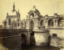France Chantilly Entrée Du Chateau Architecte Honoré Daumet Ancienne Photo 1890 - Old (before 1900)