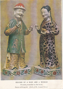 Porcelain Enamelled On The Biscuit - Man Woman - Period K'ang-hsi Kangxi- Collection Leonard Gow - 1952 - 2 Scans - Articles Of Virtu