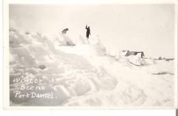 Scene D'Hiver. Port Daniel, Quebec Winter Scene Photo Veritable - Quebec
