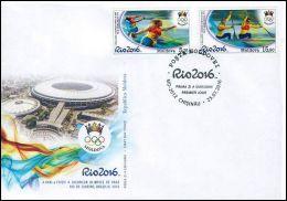 """Moldova 2016 """"XXXI Summer Olympic Games. Rio De Janeiro"""" FDC Quality:100% - Summer 2016: Rio De Janeiro"""
