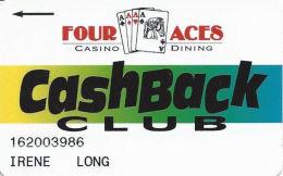 Four Aces Casino Deadwood, SD - Slot Card - Long Insert Arrow - Casino Cards