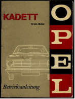 OPEL Kadett  -  Baureihe B, 1.Phase (1965-1967)  -  Betriebsanleitung / Bedienungsanleitung / Handbuch  (KTA 9433) - KFZ