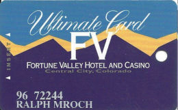 Fortune Valley Casino Central City, CO - Slot Card - Last Line Text Starts ´enjoy´  (PRINTED) - Casino Cards