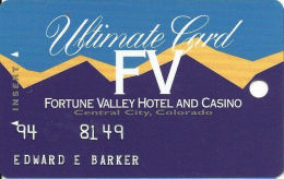 Fortune Valley Casino Central City, CO - Slot Card - Last Line Text Starts ´enjoy´  (EMBOSSED) - Casino Cards