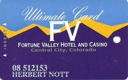 Fortune Valley Casino Central City, CO - Slot Card - Last Line Text Starts 'bership' - Casino Cards