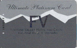 Fortune Valley Casino Central City, CO - Slot Card - (303) 327-2221 Phone#   (BLANK) - Casino Cards