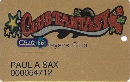 Fantasy Springs Casino - Indio, CA - 3rd Issue Slot Card - PPC Over Mag Stripe - Club 55 Sticker - Casino Cards