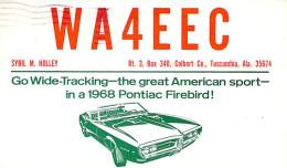 Amateur Radio QSL Card - WA4EEC - Tuscumbia, AL USA - 1967 - 2 Scans - Radio Amateur