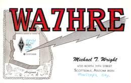 Amateur Radio QSL Card - WA7HRE - Scottsdale, AZ USA - 1969 On 3.5MHz - 2 Scans - Radio Amateur