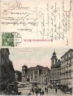 60725,Wien 1 Freiung Strassenpartie Leute 1905 - Wien