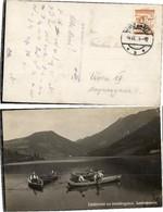 61217,FotoAK Lunzersee Lunz Am See Boote Leute 1912 - Autriche