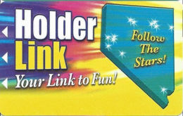 Holder Link Casinos - Nevada - Slot Card - 6 Lines Of Casinos Listed On Back  (BLANK) - Casino Cards