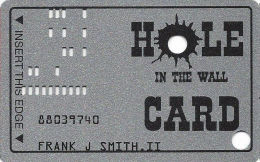 Hole In The Wall Casino - Danbury, WI - Slot Card - No Manufacturer Mark On Back - Casino Cards