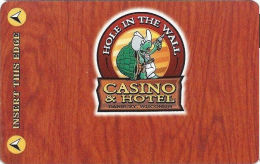 Hole In The Wall Casino - Danbury, WI - Slot Card - Casino Cards