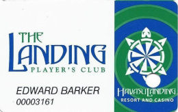 Havasu Landing Casino - Havasu Lake, CA - 2nd Issue Slot Card - 2 Tone Dark Green Swirls - Casino Cards