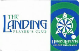 Havasu Landing Casino - Havasu Lake, CA - 3rd Issue Slot Card - All Green Swirles (BLANK) - Casino Cards