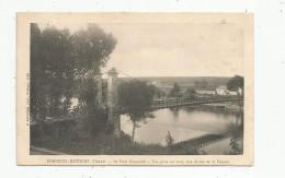 Cp , 86 , BONNEUIL MATOURS , Le Pont Suspendu , Vue Prise En Aval , Rive Droite De La VIENNE , Voyagée 1910 - France