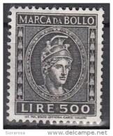 Italia Marca Da Bollo Da £ 500 Nuova (E.4b) - 6. 1946-.. Repubblica